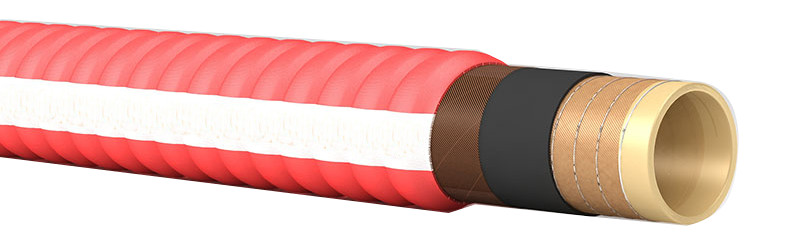 Bulk Material Handling Hose with Corrugated Cover 10bar